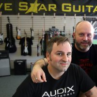 Jeremie Murfin, Geoff Metts and Johnpaul Simonet, of Five Star Guitars