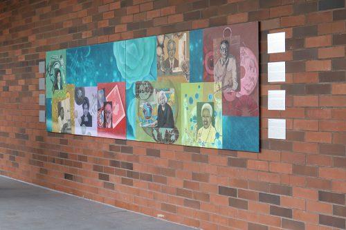 Mural showcases diverse scientists news at pcc for Extra mural studies mumbai university