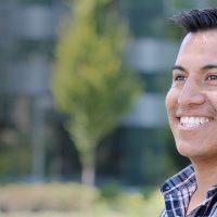 Ivan Hernandez outside smiling