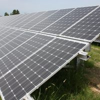 Rock Creek Campus' solar array provides PCC with green energy.