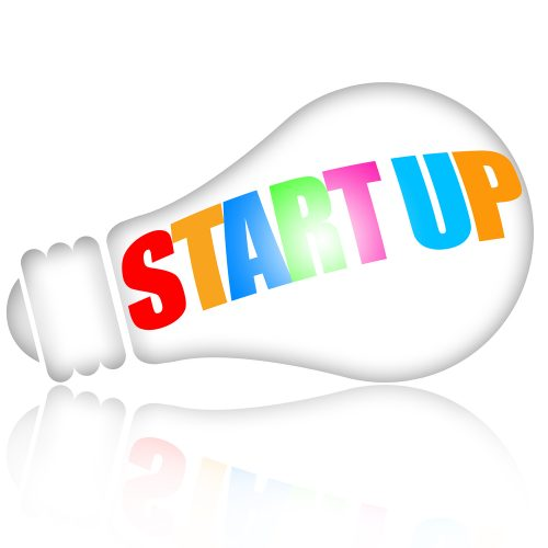 "Picture of a light bulb with the word ""Startup"" across it."