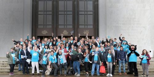 Day at the Capitol group in front of the Oregon Capitol building