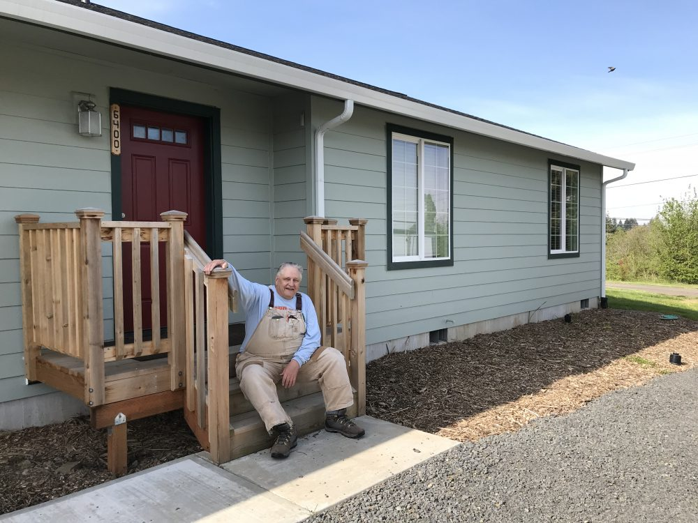 Lookabill shows off the new farm caretaker home.