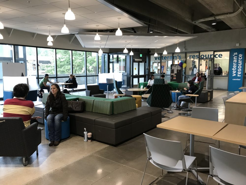 Sylvania students didn't take long to discover the common area built by the Bond Program as part of the improvements in the CC Building's Upper Mall.