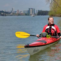 Kayaking on the Willamette River