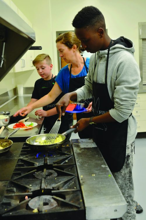 Teens have a chance to cook with a real chef.