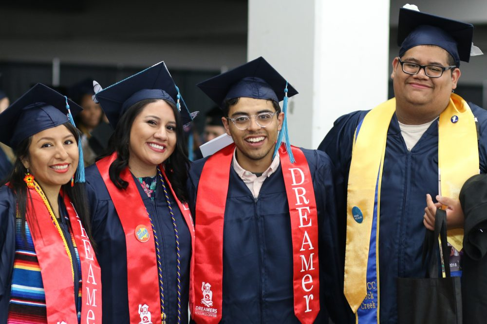 PCC's own DREAMers were among the 1,000 or so graduates on Friday. PCC opened the state's first-ever DREAM Resource Center to assist undocumented students and their families with college resources and legal services.