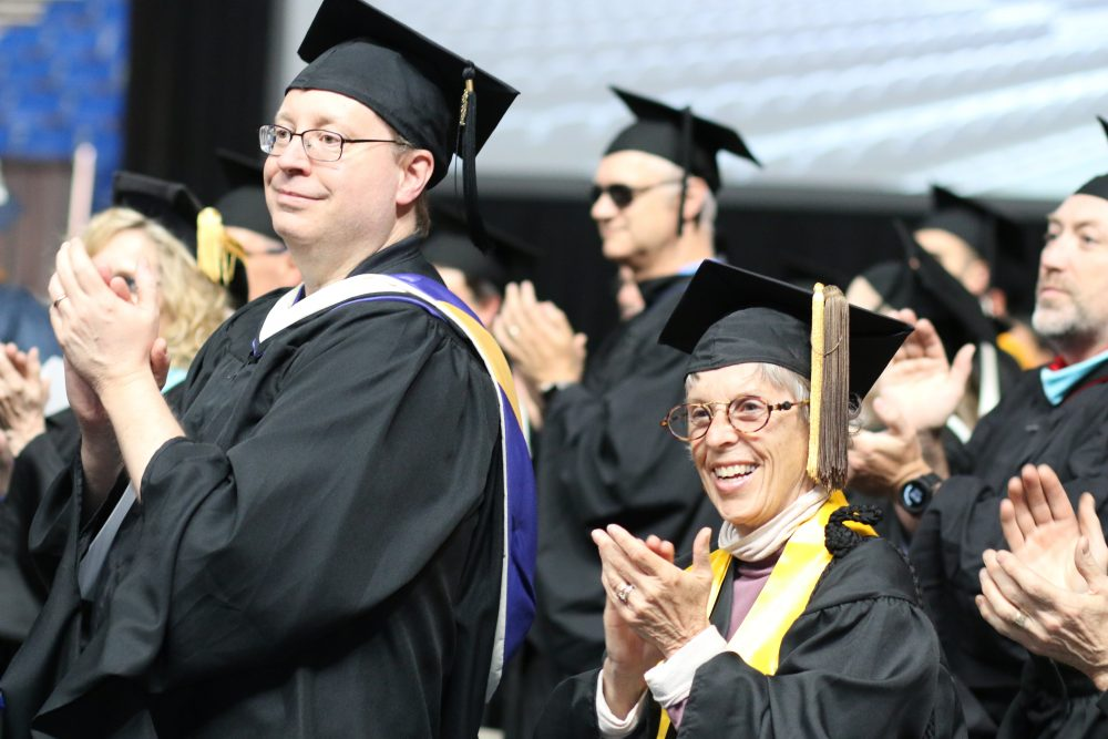 Hundreds of staff joined the graduates to celebrate their accomplishments.