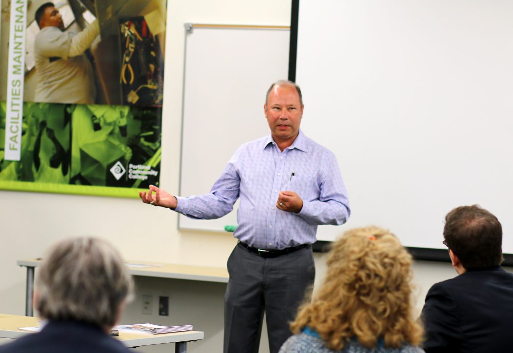 Ken Madden of Madden Industrial Craftsmen talked about the Madden apprenticeship model that he has established with PCC.
