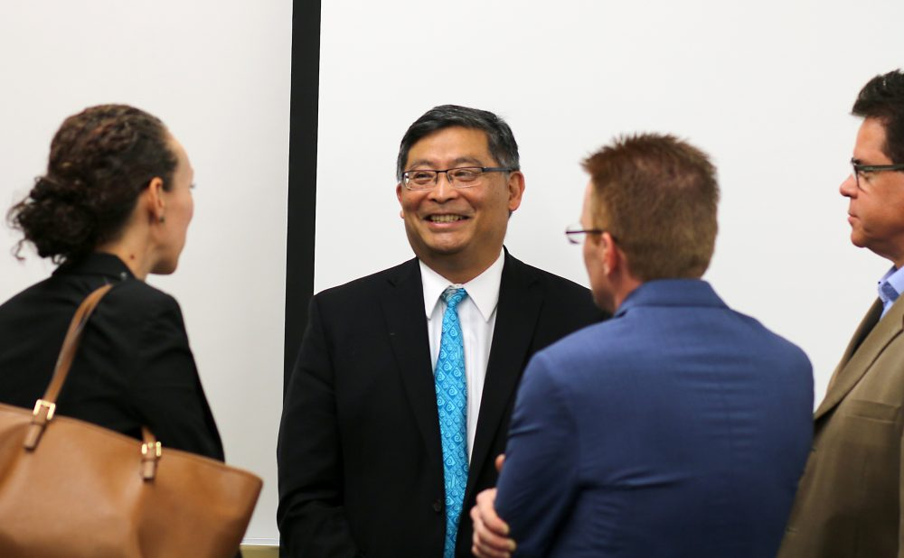 Mark Mitsui told the gathered partners that PCC is focused on CTE training.