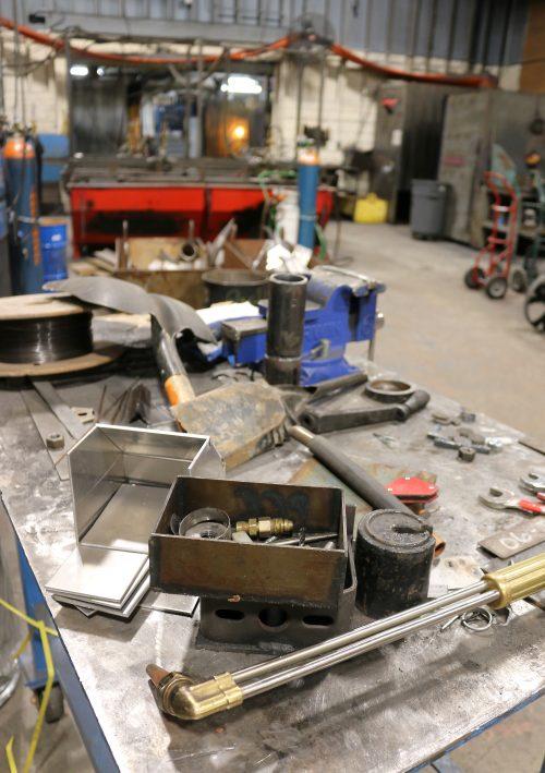 welding shop.