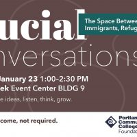 Flyer with information about Crucial Conversations event