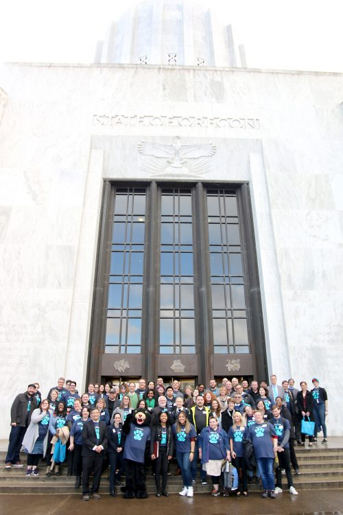 PCC group photo in front of capitol building.