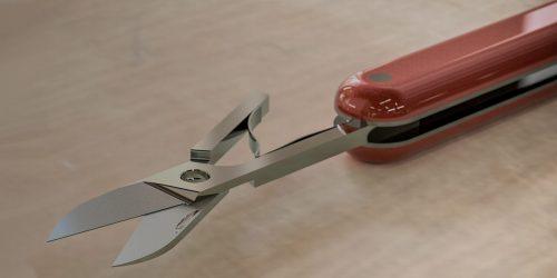CADD design of scissors