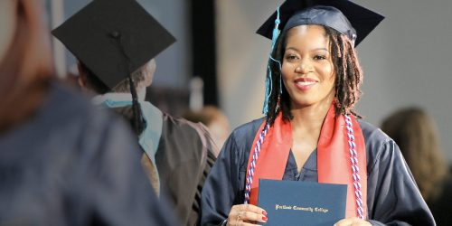 Graduate is happy