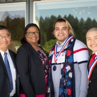 Photo of Mark Mitsui, Karin Edwards, Mahamad Abdul Karim and Kavi Kien