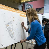 Sylvania seeks input at public outreach event on campus' future look and feel.