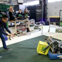 Robot team in action.
