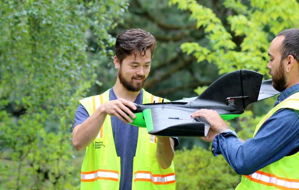 Devin Shiang and fixed-wing drone