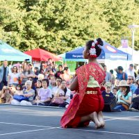 Indian dancer on stage.
