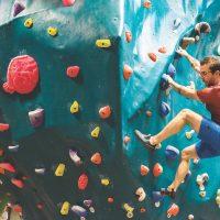 Chris Marsaglia climbing.