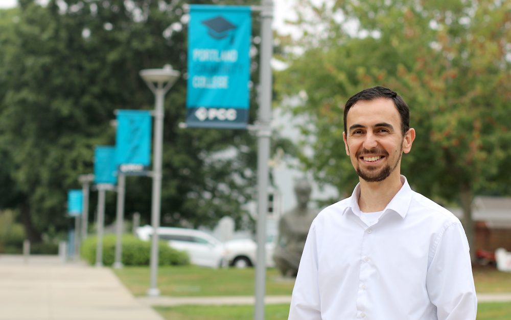"Vehapi works as a student resource specialist at PCC's Southeast Campus, teaching a myriad of college survival and success courses, as well as a non-credit class called, ""How Islam Shaped World History."""
