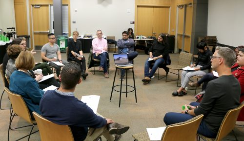 Group listening session