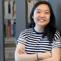 Ngoc Nguyen in library