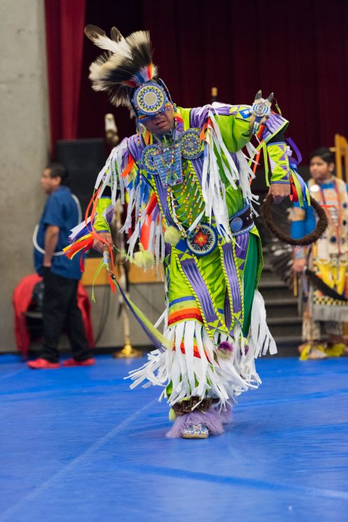 Man dances at 2019 powwow