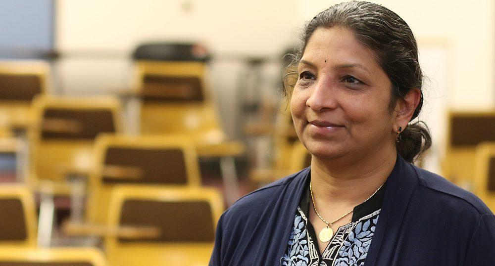 Usha Ramanujam in her class.