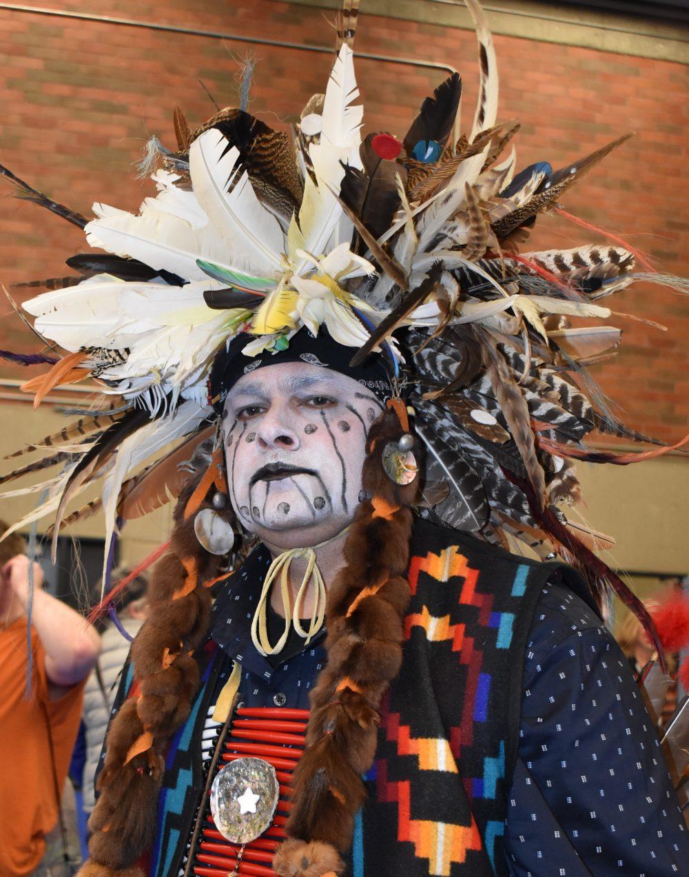 Photo of Native American dancer at powwow