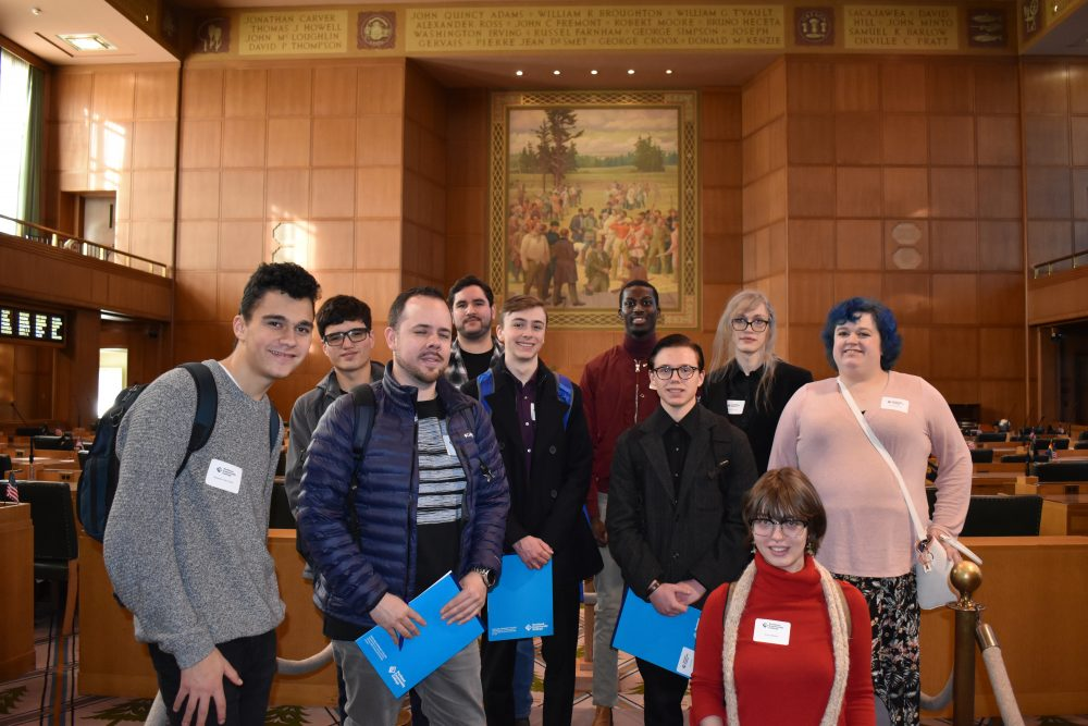 The ASPCC Legislative Interns at the Capitol