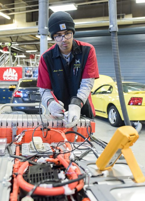 After earning his GED from PCC, Luna saved up to buy the tools he needed for the Automotive Service Program.