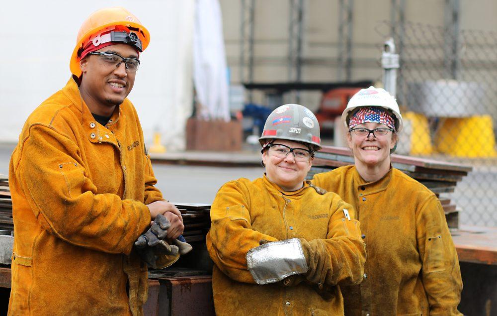 Students in Maritime Welding Career Pathways.