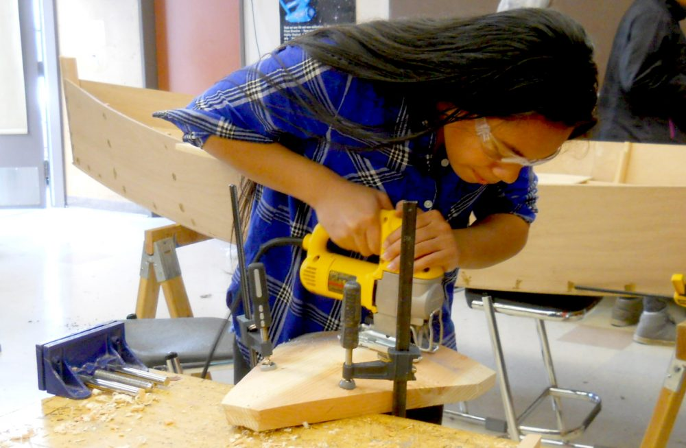 The MGESS project is a partnership with Wind & Oar Boat School, a non-profit educational organization that engages students in STEM through building wooden boats.