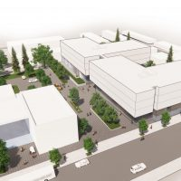 Architectural drawing of the future Portland Metro Workforce Training Center.