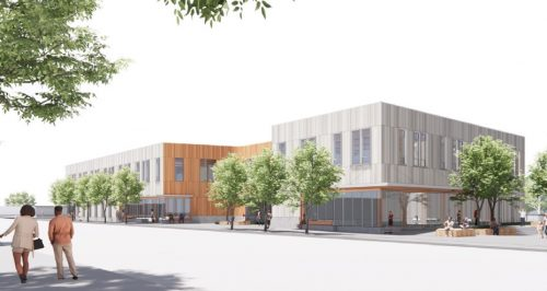 PMWTC rendering - NW view from Killingsworth St