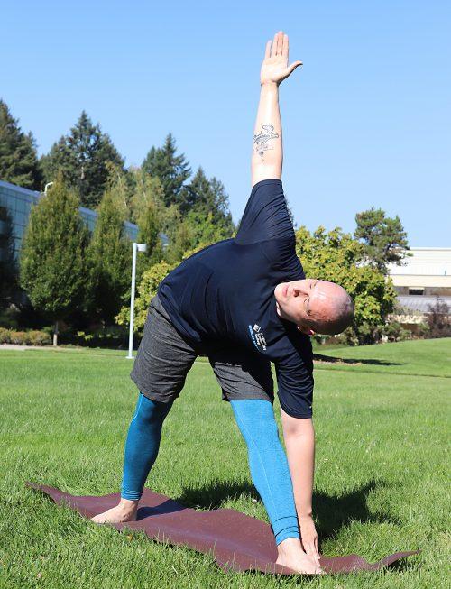 Phillip Brooks doing more yoga.