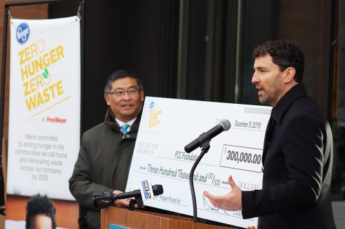 Fred Meyer donated $300,000 to PCC's food pantries.