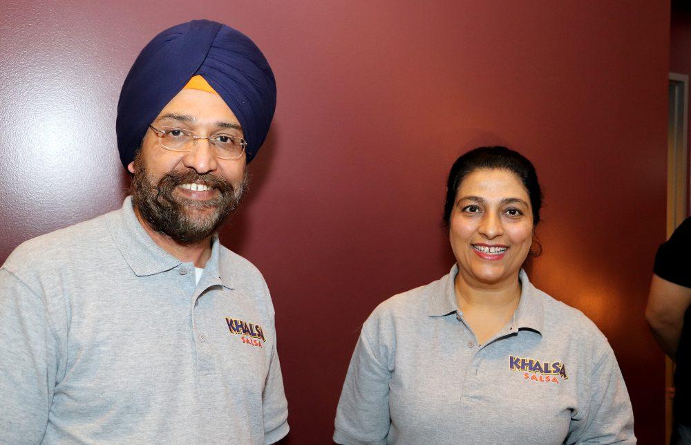 Owners of Khalsa Salsa -- Rupinder Kaur and Sukhdev Singh.