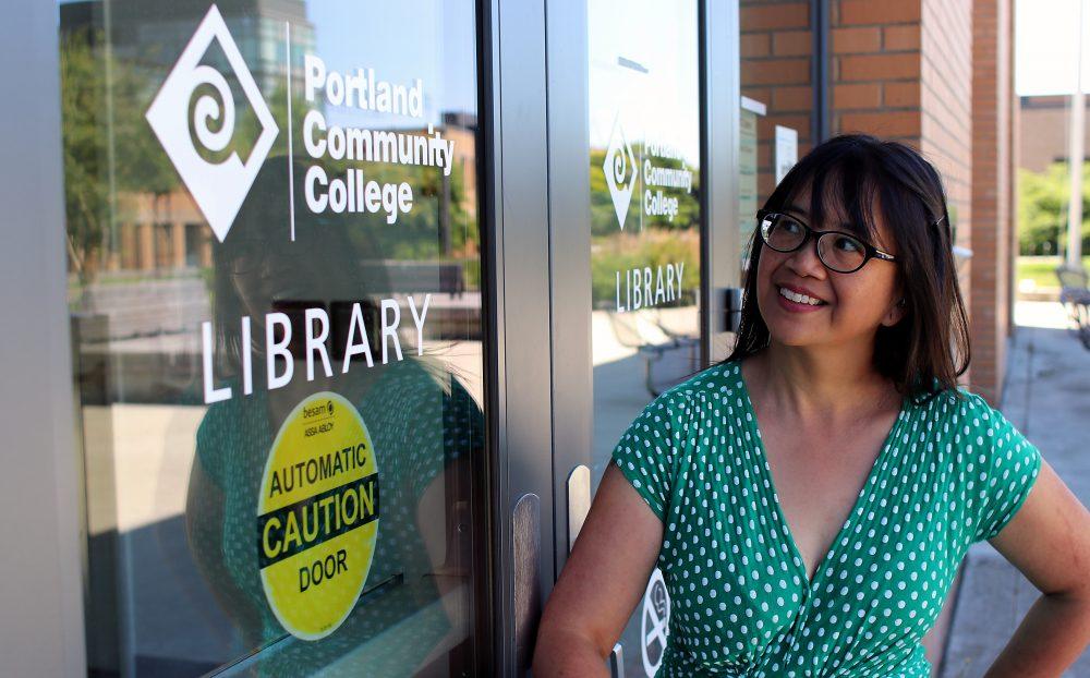 Veronica Vichit-Vadakan at the PCC Cascade Campus Library.