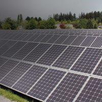 Solar panel array at Rock Creek Campus