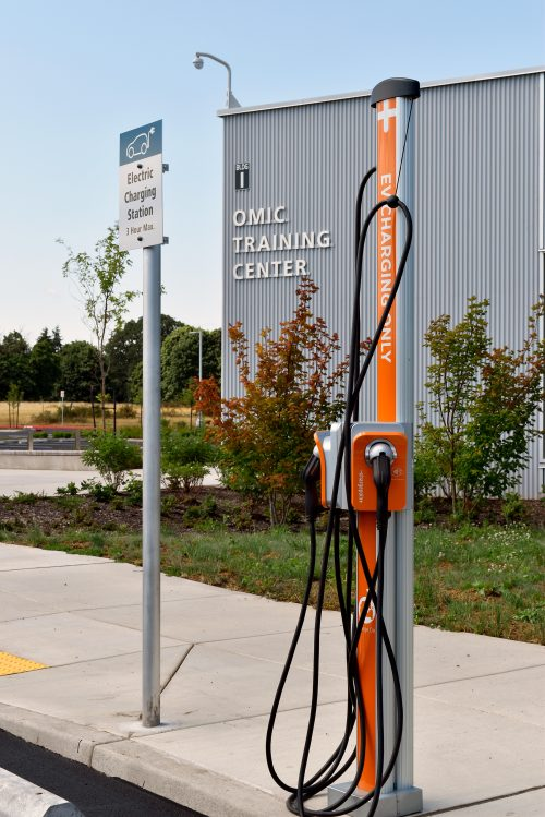 Electrical charging stations were installed at the Columbia County Center