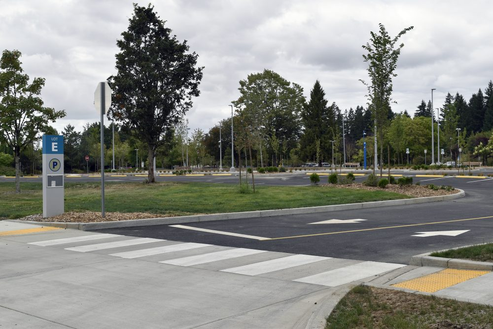 Sustainability was centered in the improvements to the Event Center Parking Lot at Rock Creek Campus