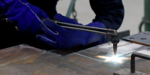 welder welding.