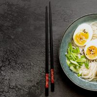 Japanese Ramen Noodle Soup With Chicken