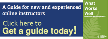 What Works Well in Online Teaching at PCC guide