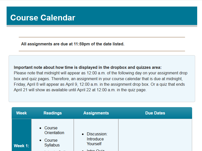 Use The D2l Calendar For Your Students Sake Online Learning At Pcc