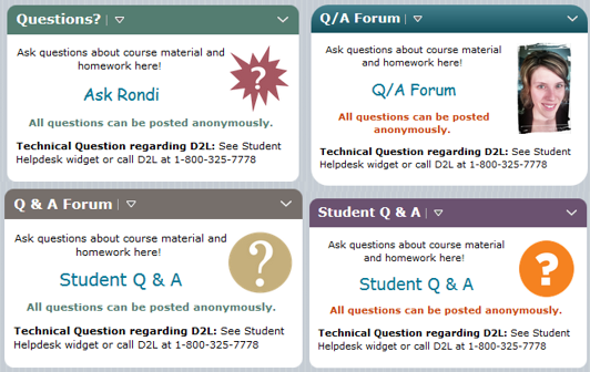 Adding a Q&A Widget to your course | Online Learning at PCC