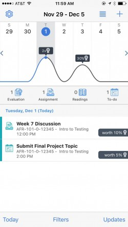 Screenshot of the new pulse app.